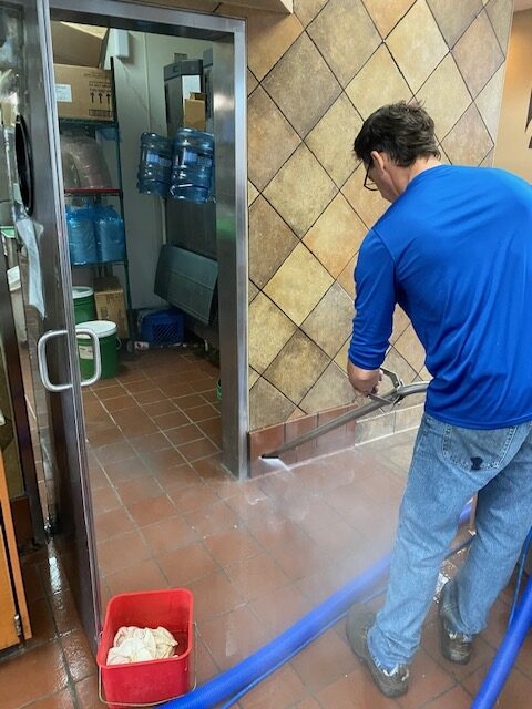cleaning the entrance of a chick-fil-a - Showcase Clean