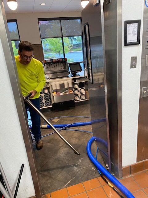 electrostatic cleaning taking place in a restaurant - Showcase Clean